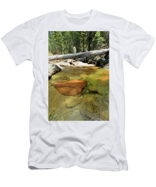 Men's T-Shirt (Athletic Fit) featuring the photograph The Road Less Travelled  Portrait by Sean Sarsfield