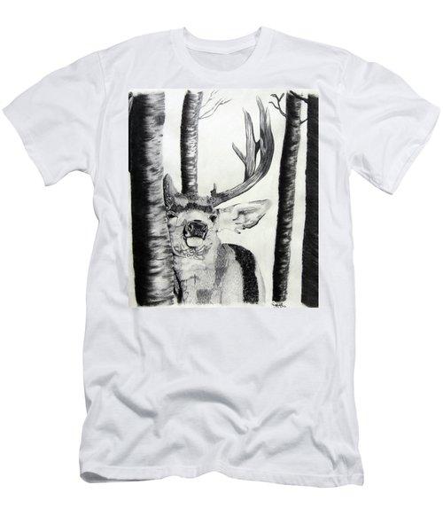 Men's T-Shirt (Slim Fit) featuring the drawing The Rutt by Mayhem Mediums