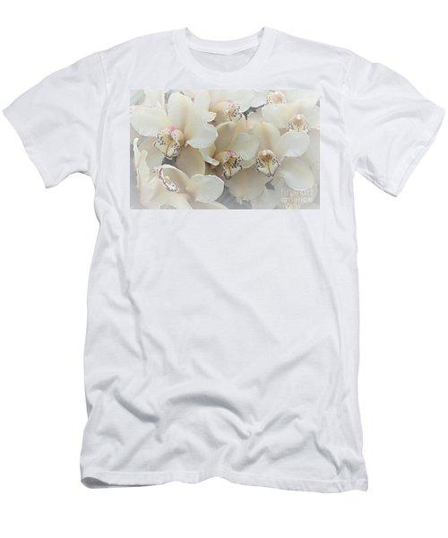 The Secret To Orchids Men's T-Shirt (Slim Fit) by Sherry Hallemeier