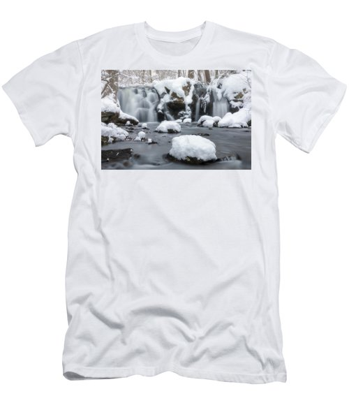 Men's T-Shirt (Athletic Fit) featuring the photograph The Secret Waterfall In Winter 1 by Brian Hale