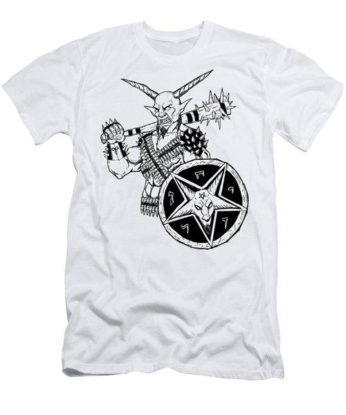The Sheild White Version Men's T-Shirt (Athletic Fit)
