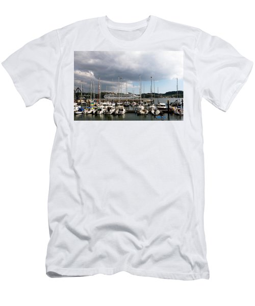 Men's T-Shirt (Athletic Fit) featuring the photograph Ship Comes In To Belem by Lorraine Devon Wilke