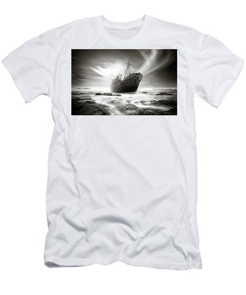 The Shipwreck Men's T-Shirt (Slim Fit) by Marius Sipa