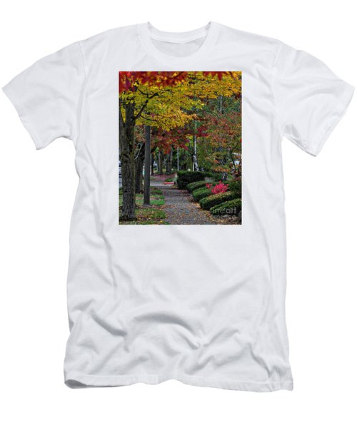 Men's T-Shirt (Slim Fit) featuring the photograph The Sidewalk And Fall by Kirt Tisdale