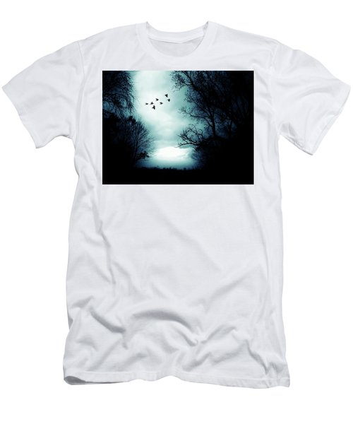 The Skies Hold Many Secrets Known Only To A Few Men's T-Shirt (Slim Fit) by Michele Carter