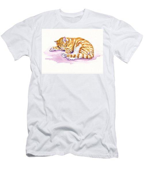 The Sleepy Kitten Men's T-Shirt (Athletic Fit)