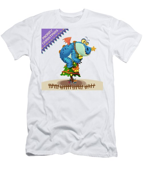 The Sloth Dragon Monster Comes To Wish You Merry Christmas Men's T-Shirt (Slim Fit) by Next Mars