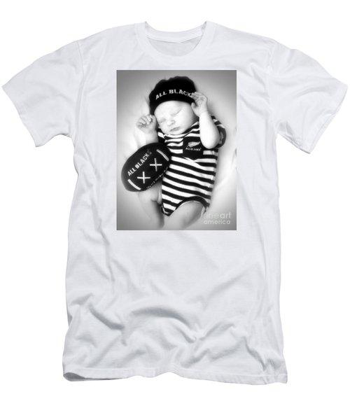The Smallest All Black Men's T-Shirt (Slim Fit) by Karen Lewis
