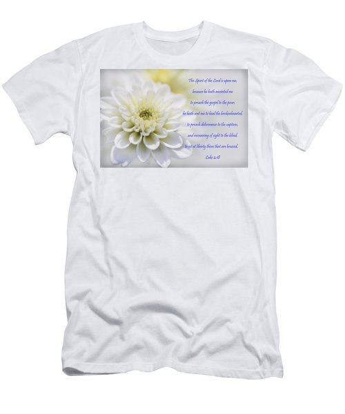 The Spirit Of The Lord Is Upon Me Men's T-Shirt (Athletic Fit)