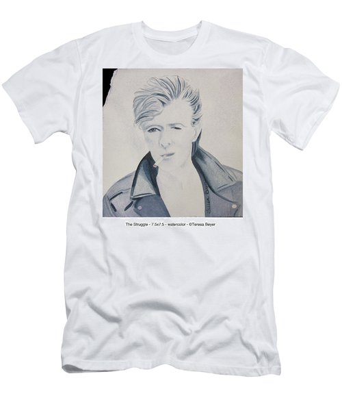 Men's T-Shirt (Slim Fit) featuring the painting The Struggle by Teresa Beyer