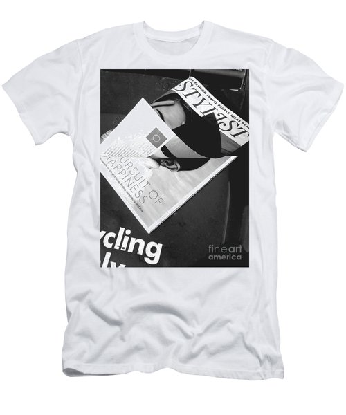 Men's T-Shirt (Athletic Fit) featuring the photograph The Stylist by Rebecca Harman