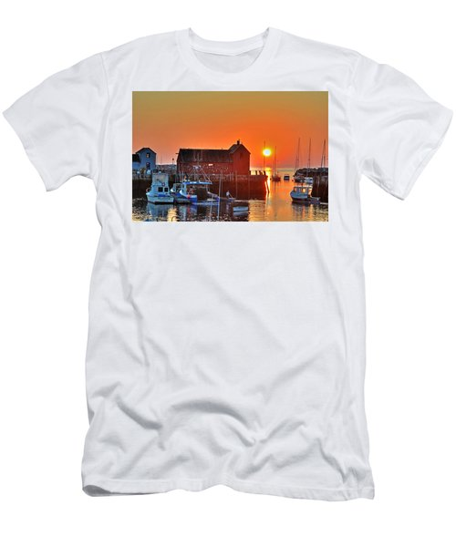 The Sun Rising By Motif Number 1 In Rockport Ma Bearskin Neck Men's T-Shirt (Athletic Fit)