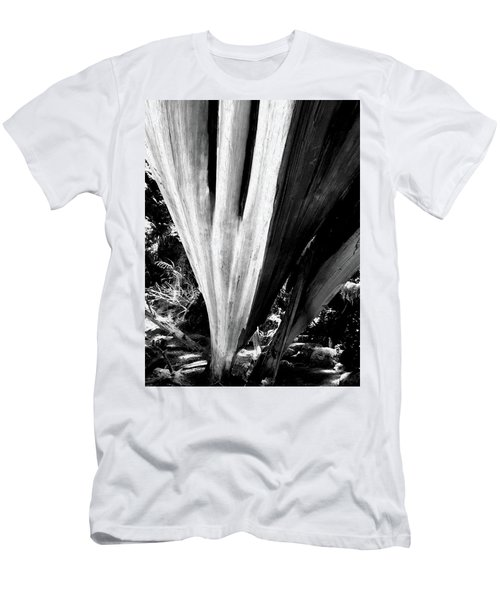 Men's T-Shirt (Athletic Fit) featuring the photograph The Swoop Of Fallen Wood by Lorraine Devon Wilke