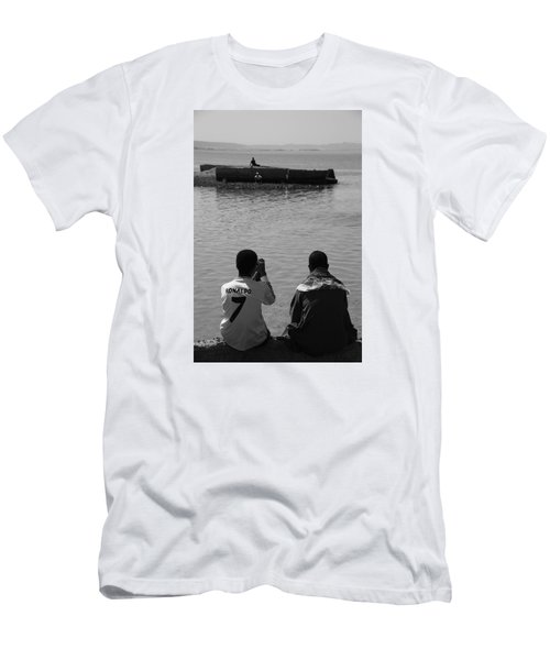 Men's T-Shirt (Slim Fit) featuring the photograph The Thoughts Of Mermaids  by Jez C Self