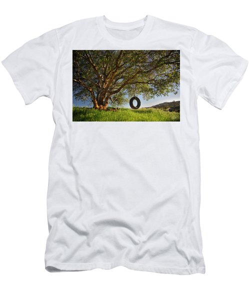 The Tire Swing Men's T-Shirt (Slim Fit) by Endre Balogh