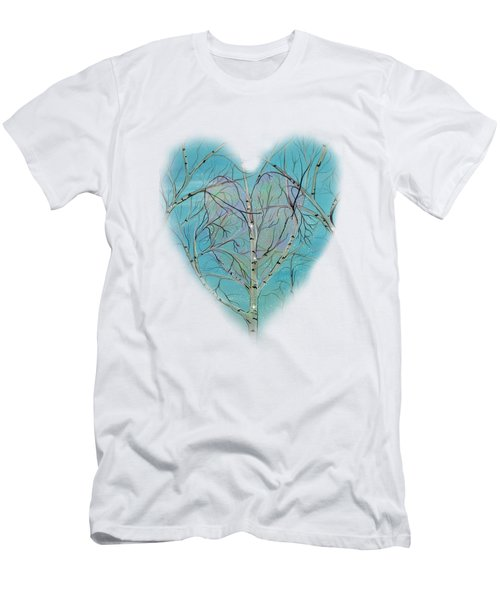 Men's T-Shirt (Slim Fit) featuring the painting The Trees Speak To Me In Whispers by Deborha Kerr
