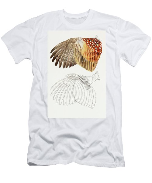 The Upper Side Of The Pheasant Wing Men's T-Shirt (Athletic Fit)