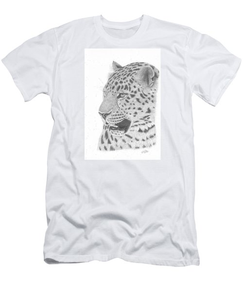 The Watchful Leopard Men's T-Shirt (Athletic Fit)