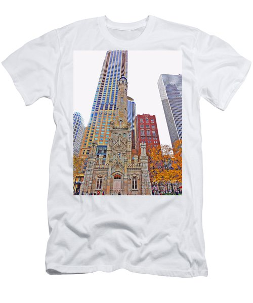 The Water Tower In Autumn Men's T-Shirt (Athletic Fit)