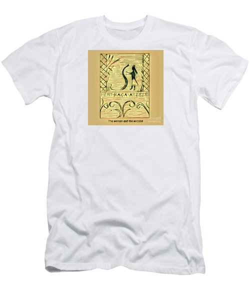 The Woman And The Serpent Men's T-Shirt (Athletic Fit)