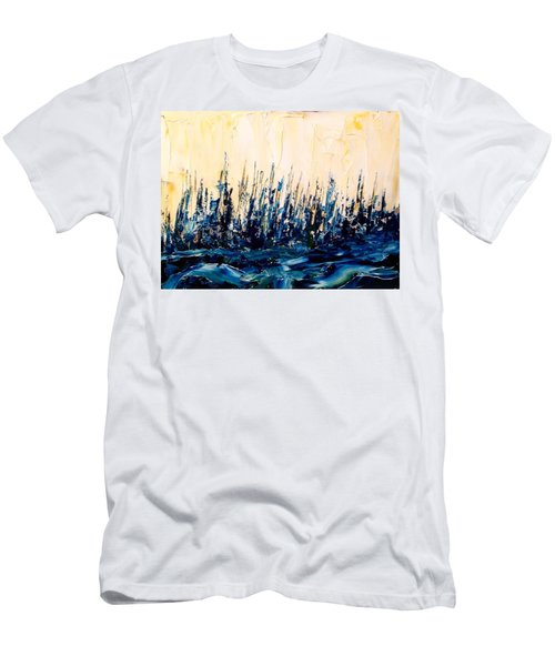 The Woods - Blue No.2 Men's T-Shirt (Athletic Fit)