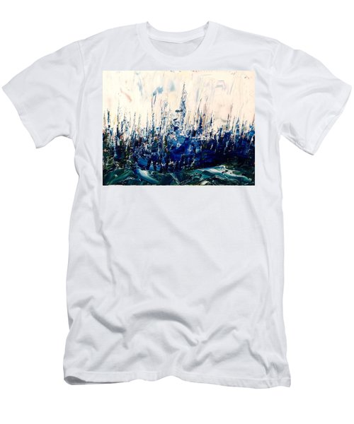The Woods - Blue No.3 Men's T-Shirt (Athletic Fit)
