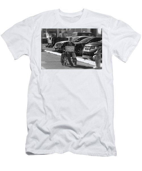 The World Is A Ghetto Men's T-Shirt (Slim Fit) by Michael Rogers