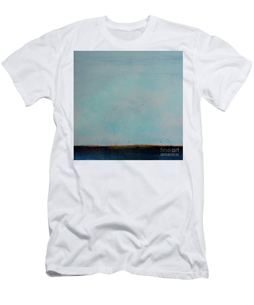Men's T-Shirt (Athletic Fit) featuring the painting Thin Orange Line by Kim Nelson