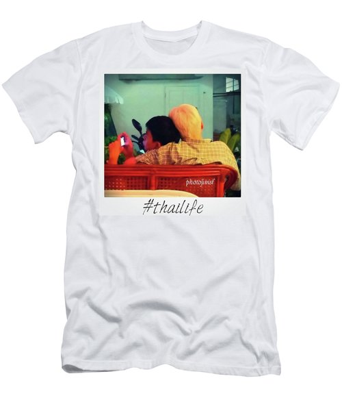 Men's T-Shirt (Athletic Fit) featuring the photograph Thinking About Escaping Us by Mr Photojimsf