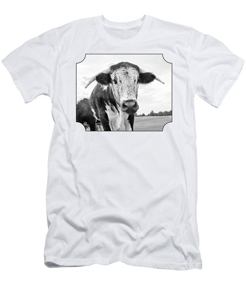 This Is My Field - Black And White Men's T-Shirt (Athletic Fit)