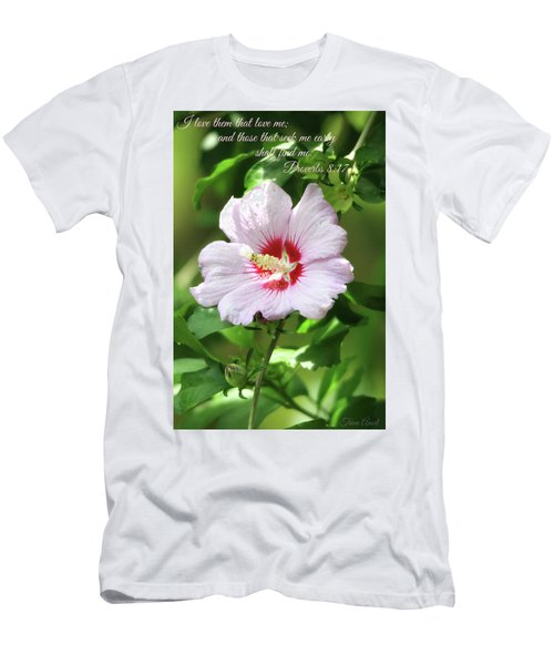Men's T-Shirt (Athletic Fit) featuring the photograph Those That Seek Me Shall Find Me by Trina Ansel