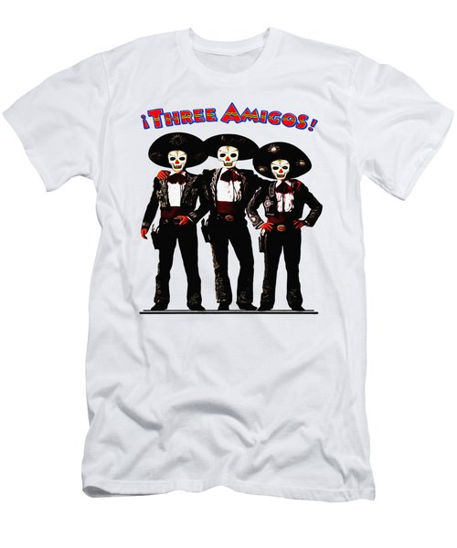 Men's T-Shirt (Slim Fit) featuring the photograph Three Amigos - Day Of The Dead by Bill Cannon