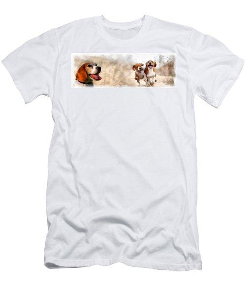Three Amigos Men's T-Shirt (Slim Fit) by Maciek Froncisz