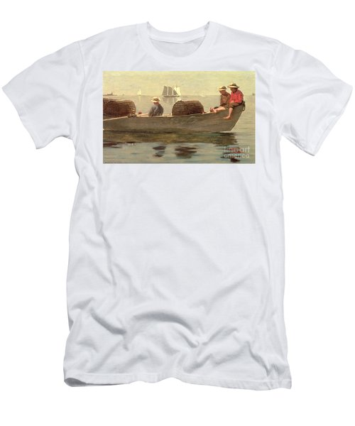 Three Boys In A Dory Men's T-Shirt (Athletic Fit)