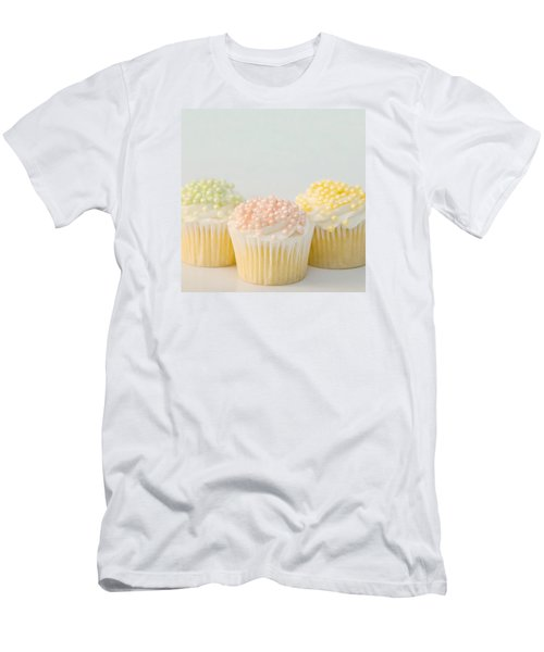 Three Cupcakes Men's T-Shirt (Slim Fit) by Art Block Collections