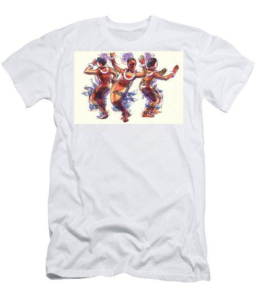 Three Dancers Of Tongatapu Men's T-Shirt (Athletic Fit)