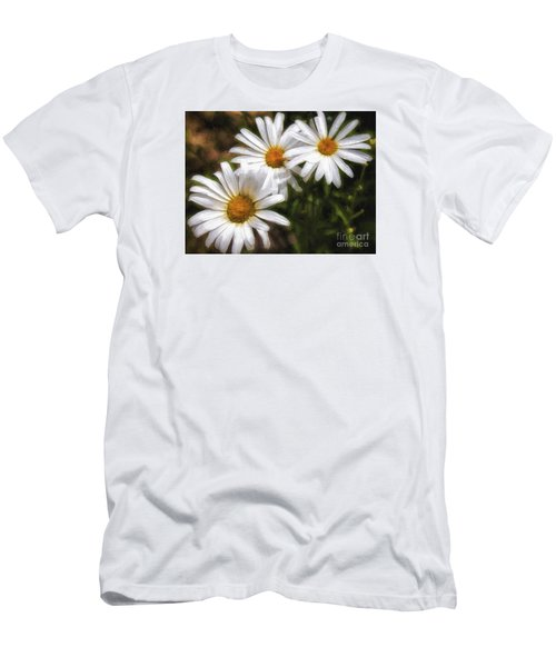 Three Flowers  ... Men's T-Shirt (Slim Fit) by Chuck Caramella