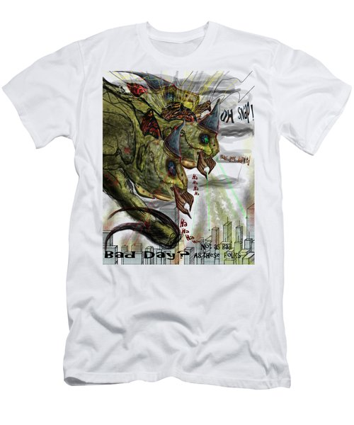 Three Headed Bird Cyborg Monster Attacking A City With Fire And Lasers For T-shirts Men's T-Shirt (Athletic Fit)