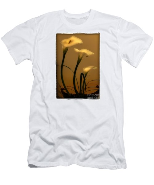Three Lilies Men's T-Shirt (Slim Fit) by Linda Olsen