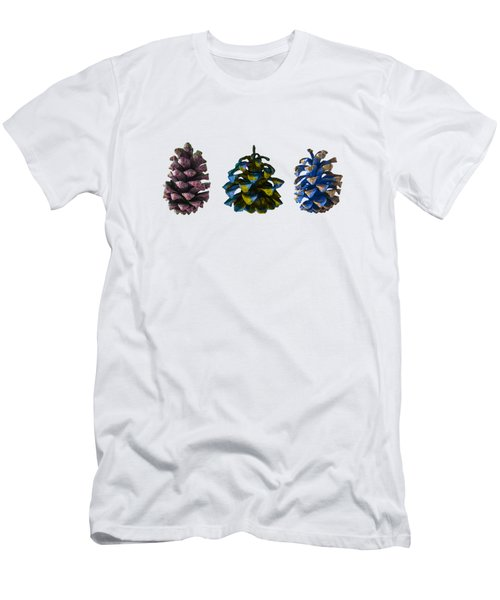 Three Pine Cones Men's T-Shirt (Slim Fit) by Stan  Magnan