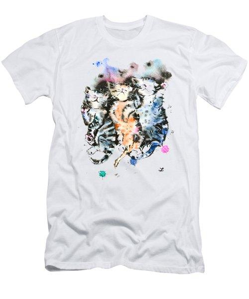 Three Sleeping Kittens Men's T-Shirt (Athletic Fit)