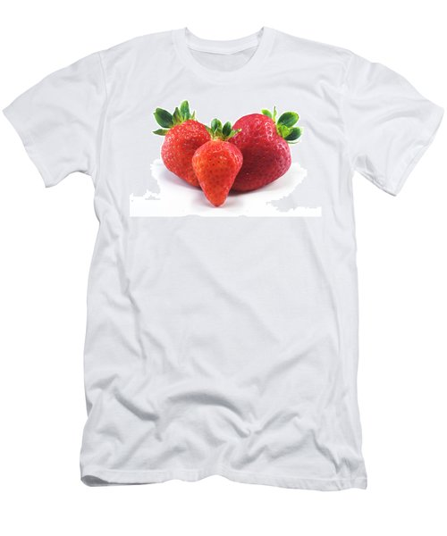 Three Strawberries Men's T-Shirt (Athletic Fit)