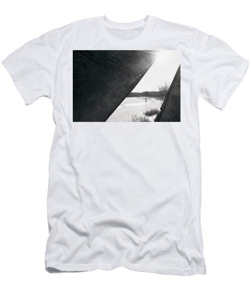 Men's T-Shirt (Athletic Fit) featuring the photograph Through A Bird Blind by Sue Collura