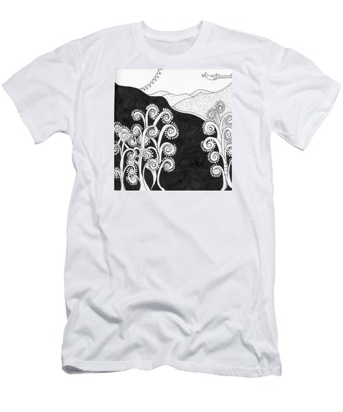 Men's T-Shirt (Slim Fit) featuring the painting Through The Woods by Lou Belcher