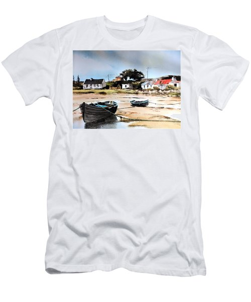 Tide Out In Erlak Roundstone Galway Men's T-Shirt (Athletic Fit)