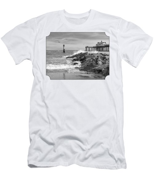Tide's Turning - Black And White - Southwold Pier Men's T-Shirt (Athletic Fit)