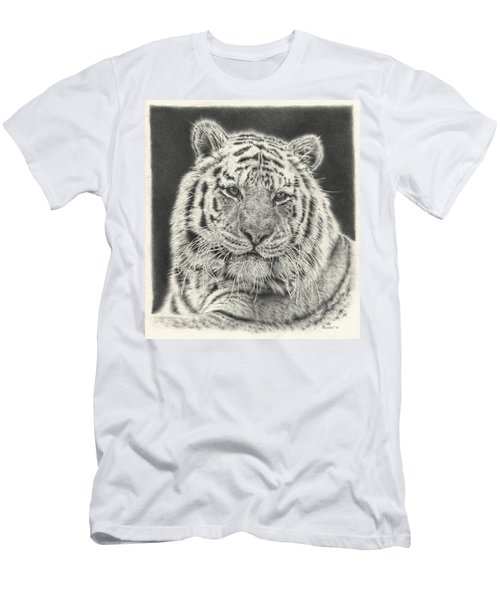 Tiger Drawing Men's T-Shirt (Athletic Fit)