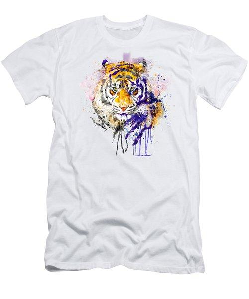 Tiger Head Portrait Men's T-Shirt (Athletic Fit)