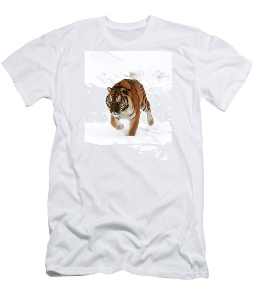 Tiger In Snow Men's T-Shirt (Athletic Fit)