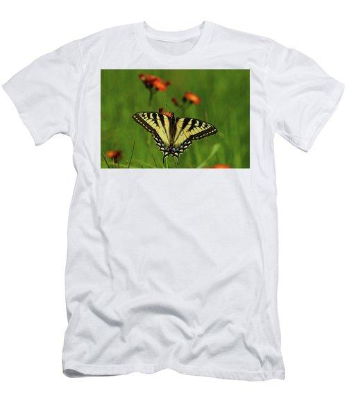 Tiger Swallowtail Butterfly Men's T-Shirt (Slim Fit) by Nancy Landry
